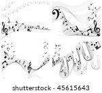 vector musical notes staff... | Shutterstock .eps vector #45615643