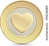gold coin. heart shape.   Shutterstock .eps vector #45616084