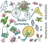 summer elements big collection. ... | Shutterstock .eps vector #456165202