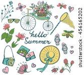 summer elements big collection. ... | Shutterstock .eps vector #456165202
