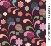 seamless pattern with flowers | Shutterstock .eps vector #45616591