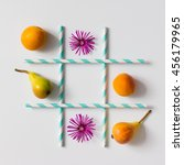 Tic Tac Toe Made Of  Fruits ...