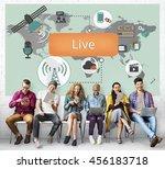 live lifestyle balance harmony... | Shutterstock . vector #456183718