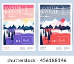 set of winter hiking camp ... | Shutterstock .eps vector #456188146