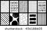 doodle grunge posters set.... | Shutterstock .eps vector #456188605