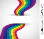 rainbow on white. rainbow... | Shutterstock .eps vector #456199552