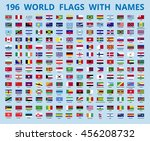flags of the world with the... | Shutterstock .eps vector #456208732