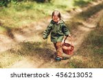 the small children walk in the... | Shutterstock . vector #456213052