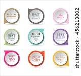 modern badges colorful... | Shutterstock .eps vector #456213802