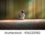 praying child in the white... | Shutterstock . vector #456220582