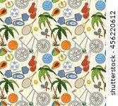 seamless sport rio 2016 pattern ... | Shutterstock .eps vector #456220612
