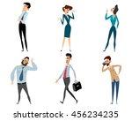 vector illustration of a six... | Shutterstock .eps vector #456234235