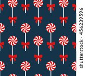 seamless christmas pattern with ... | Shutterstock .eps vector #456239596