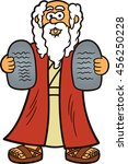 moses with two stones of ten... | Shutterstock .eps vector #456250228