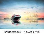 logistics and transportation of ... | Shutterstock . vector #456251746