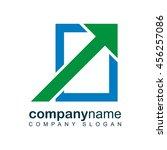 technology logo template.... | Shutterstock .eps vector #456257086