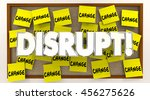 disrupt change sticky notes... | Shutterstock . vector #456275626