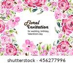 romantic invitation. wedding ... | Shutterstock .eps vector #456277996