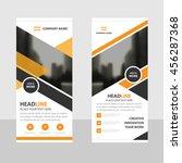 orange black triangle business... | Shutterstock .eps vector #456287368