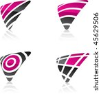 abstract vector icons such... | Shutterstock .eps vector #45629506
