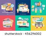 creative process conceptual... | Shutterstock .eps vector #456296002
