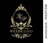 wedding logo   Shutterstock .eps vector #456297208
