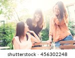 three beautiful happy asian... | Shutterstock . vector #456302248