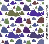 seamless vector pattern with... | Shutterstock .eps vector #456304936