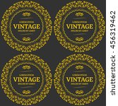 vintage seamless background...   Shutterstock .eps vector #456319462