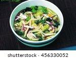 japanese noodles udon  | Shutterstock . vector #456330052