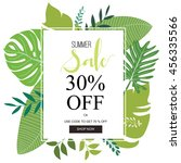 summer sale banner and... | Shutterstock .eps vector #456335566