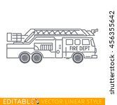 fire truck. editable vector...   Shutterstock .eps vector #456355642