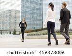 young business people outdoors | Shutterstock . vector #456373006