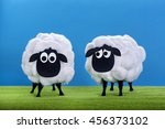 eid al adha sheeps home made... | Shutterstock . vector #456373102