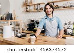 best coffee. sincere and merry... | Shutterstock . vector #456374572