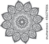 mandala coloring illustration....   Shutterstock .eps vector #456379006