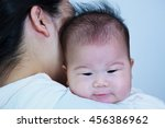 mother and baby  lovely asian... | Shutterstock . vector #456386962