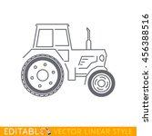 tractor. editable vector icon... | Shutterstock .eps vector #456388516