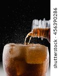 soft drink   pour soda to a... | Shutterstock . vector #456390286
