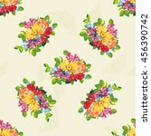 seamless pattern with colorful... | Shutterstock .eps vector #456390742