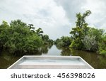 swamp tour from airboat in new... | Shutterstock . vector #456398026