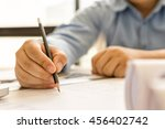 architect drawing architectural ... | Shutterstock . vector #456402742