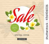 summer sale banner with... | Shutterstock .eps vector #456406036