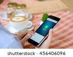 chiang mai  thailand   jul 21... | Shutterstock . vector #456406096