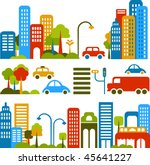 vector illustration of a city... | Shutterstock .eps vector #45641227