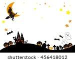 halloween silhouette  scenery | Shutterstock . vector #456418012