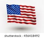 illustration of waving  flag of ... | Shutterstock .eps vector #456418492