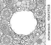 abstract hand drawn zentangle... | Shutterstock .eps vector #456419518