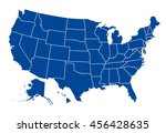 united states of america map | Shutterstock .eps vector #456428635