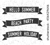 hand drawn summer banner with... | Shutterstock .eps vector #456429646